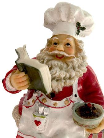 santa cooking photo