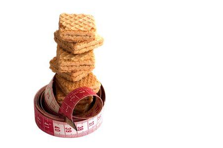metric: cookies and metric tape Stock Photo