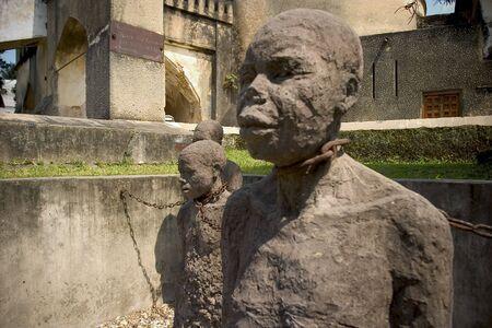 zanzibar: slaaf het monument op stenen stad, Zanzibar eiland Stockfoto