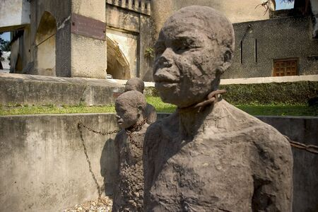 slave's monument at stone town, zanzibar island Stock Photo - 764298