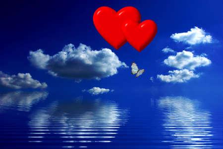 butterfly stroke: Hearts