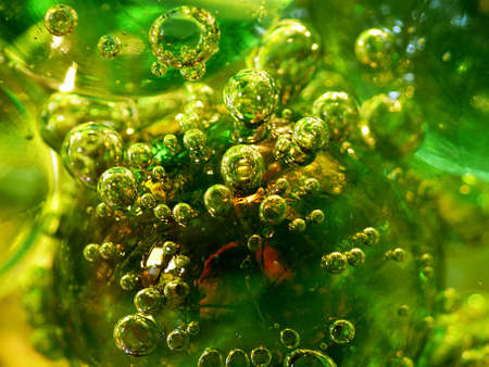 Bubbles under water photo