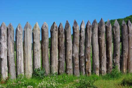 stake: Wood stake fence
