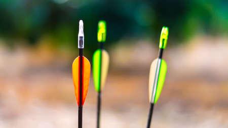 Three arrow tails Stock Photo