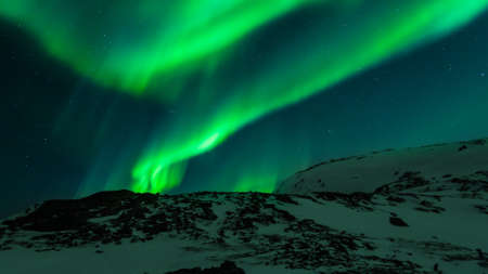 The beatiful view of Aurora Borealis