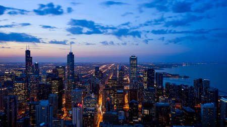 Drone view of Chicago