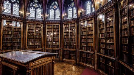 Une bibliothèque sympa Banque d'images - 73319880