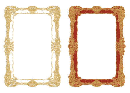 Vintage frames Stock Illustratie