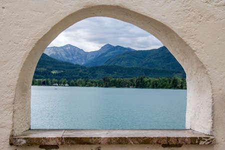 austria, salzkammergut, wolfgangsee, st. wolfgang Stock Photo