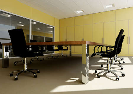 perspective of empty modern office Stock Photo