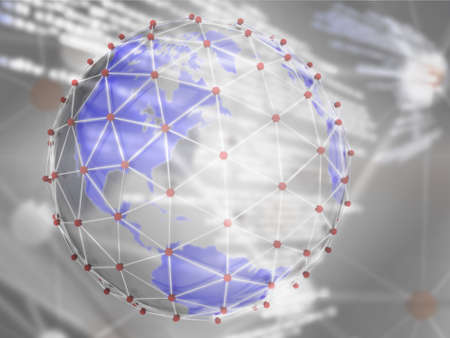 background of world network connection Stock Photo