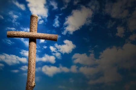 cross on blue sky background