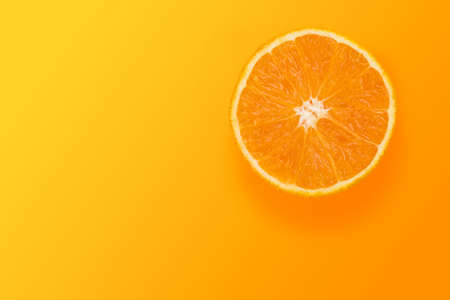 Orange fruit in color background Banco de Imagens