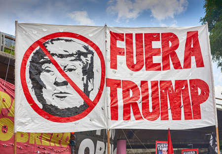 Buenos Aires, CABA, Argentina - November 30, 2018: G20 summit protest street, Buenos Aires.