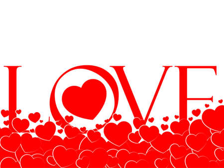 San Valentine, hearts, day of lovers, word love