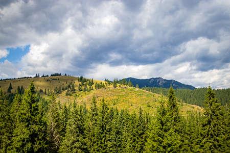 A mountain in Harghita in the center of Romania, in eastern Transylvania Foto de archivo
