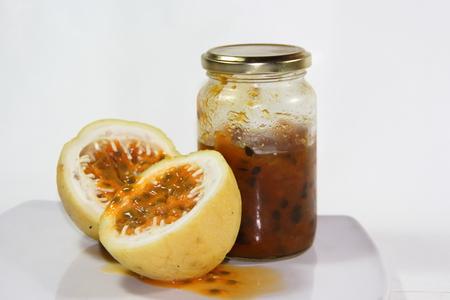 passion fruit flower: Maracuya and jam