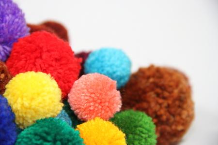 wool pompoms