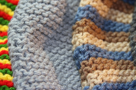 tricot, woven with two needles, winter wool Banco de Imagens