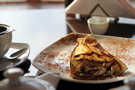apple omelette at tea time