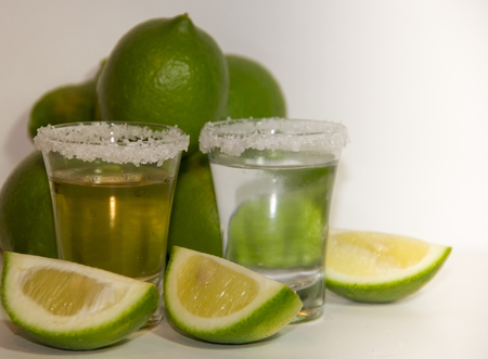 tequila glasses typical drink of mexico Stock Photo