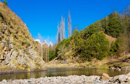landscape of the El Durazno Rivers in the province of Cordoba Argentina