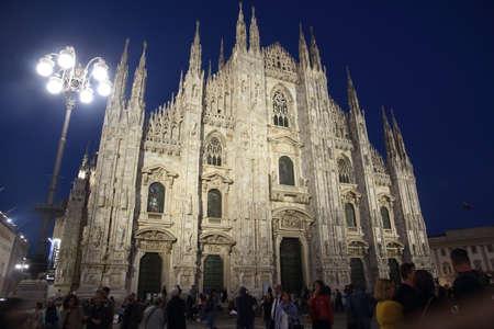MILAN, ITALY - May 30 2019: night view of the Duomo of Milan Editöryel