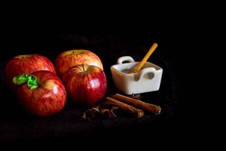 apples and honey symbol of Rosh Hashanah, jewish new year