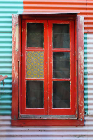 Red window in Caminito photo