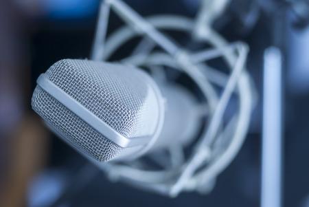 talk show: microphone Brauner anniversary edition Stock Photo