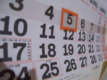 calendar Zdjęcie Seryjne