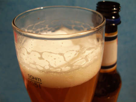 potation: glass of beer Stock Photo