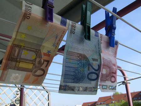 money laundering: il riciclaggio di denaro Archivio Fotografico