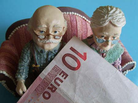 valuta: the statutory retirement age Stock Photo