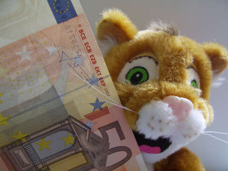 cat with money Stock Photo - 574468