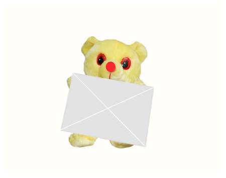 the teddybear with white envelope