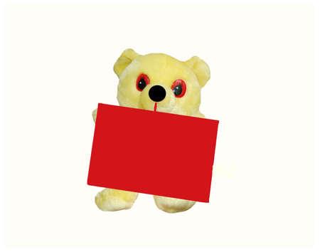 the teddybear with red envelope Stok Fotoğraf