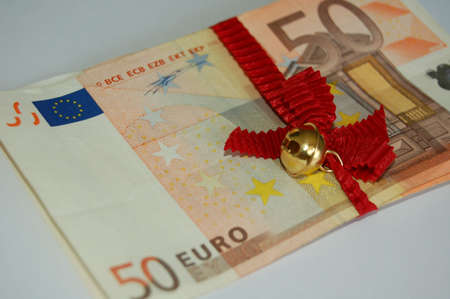 batch of euro: the bundle of money