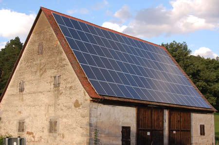 the solar cell on the roof