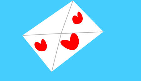 envelope with hearts on it Stok Fotoğraf