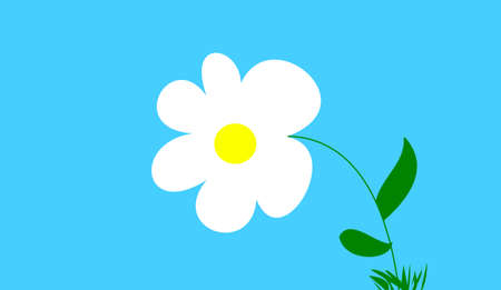 decore: the flower on blue background Stock Photo
