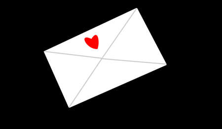 the envelope with heart on it Stok Fotoğraf