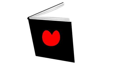 the book with heart on it Zdjęcie Seryjne