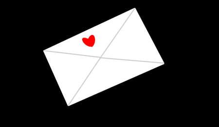 envelope with heart on it Stok Fotoğraf