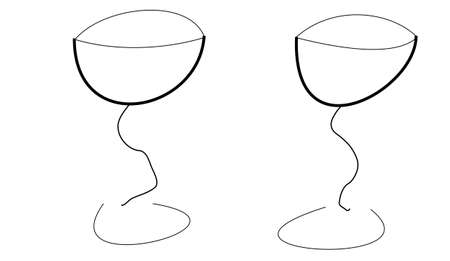 glassware: two glassware on white backround