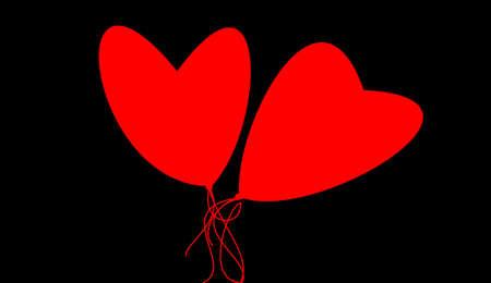 heyday: hearts on black background