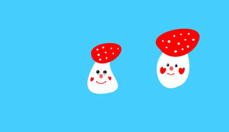 a fly agaric: fly agaric on blue background