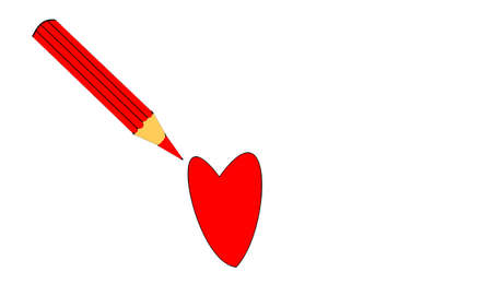 heyday: the red pencil and heart