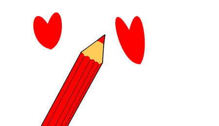 heyday: pencil and heart
