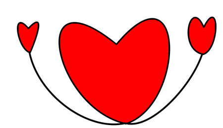 heyday: the heart on white background